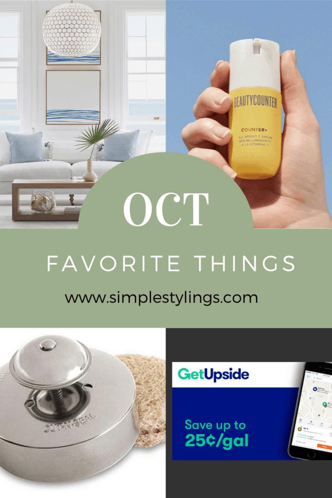 October Favorite Things 2020 pin