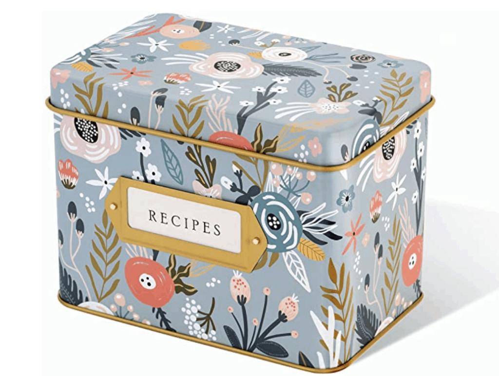 cute recipe box family gift