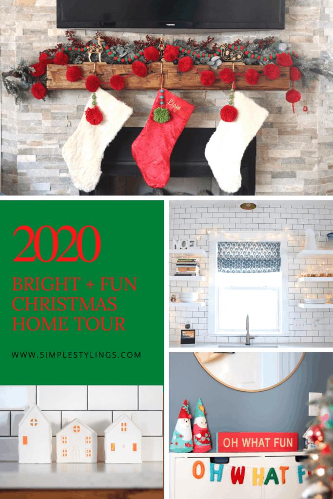 2020 Bright + Fun Christmas Home Tour pin