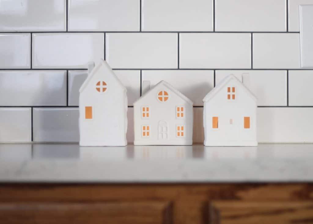 2020 Bright + Fun Christmas Home Tour ceramic houses