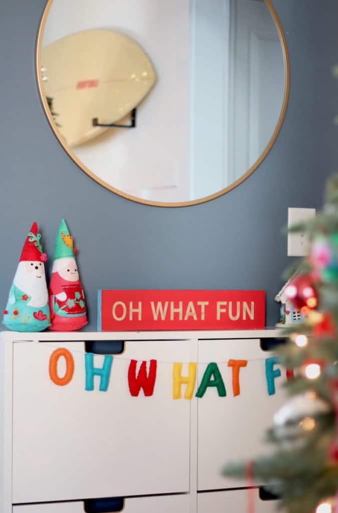 2020 Bright + Fun Christmas Home Tour decor
