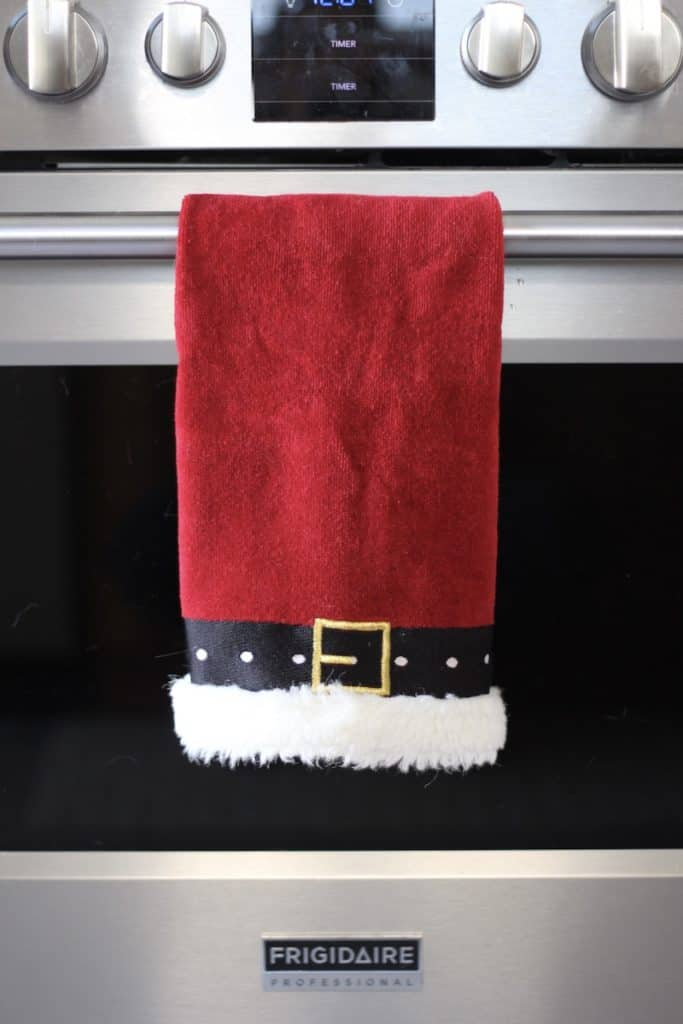 2020 Bright + Fun Christmas Home Tour dish towel